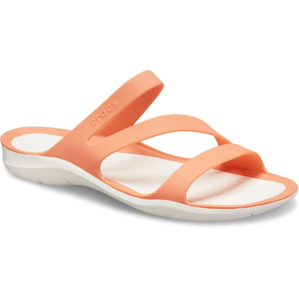 Crocs Swiftwater Sandal W Damen Pantoletten grapefruit/white