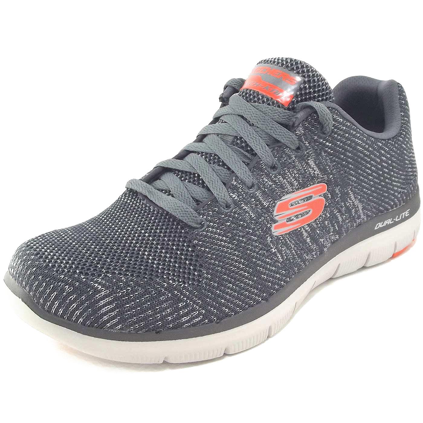 buy online 73b33 72a4f Skechers Flex Advantage 2.0 Missing Link Men Training Sneaker  charcoal/orange