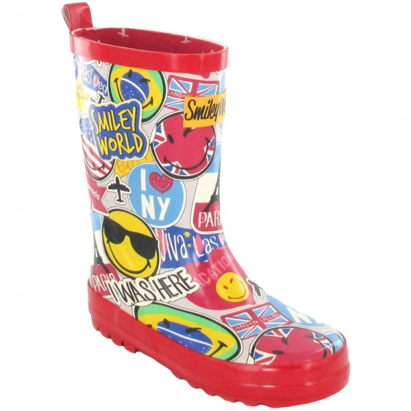 Be Only Smiley Travel Kinder Gummistiefel rot (multi)