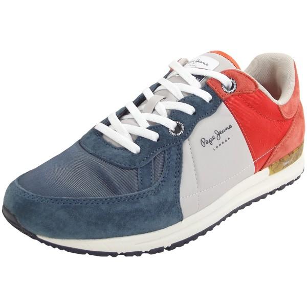 738432794fd Pepe Jeans Tinker Pro Camp Summer Herren Sneaker blau grau rot (old navy