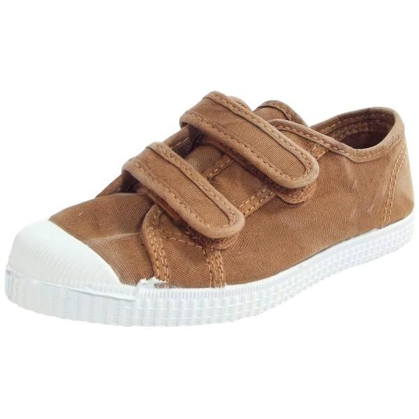 Natural World Basquet Klett Kinder Bio-Sneaker Braun (Cana)