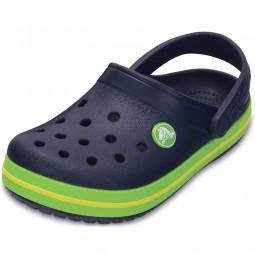 Crocs Crocband Kids Kinder Clogs dunkelblau/grün (navy/volt green)