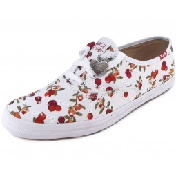 Keds Champion Taylor Swift Eyelet Damen Sneaker weiß/rot (berry red)