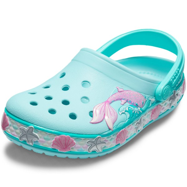timeless design 1a52f 164be Crocs Fun Lab Mermaid Band Girl Clogs ice blue
