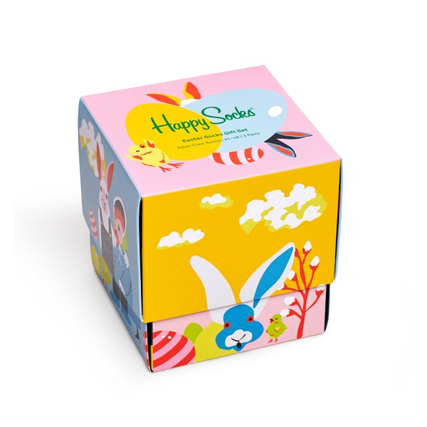 Happy Socks Easter Socks Gift Set 3-Pack Unisex Geschenk-Socken Mehrfarbig