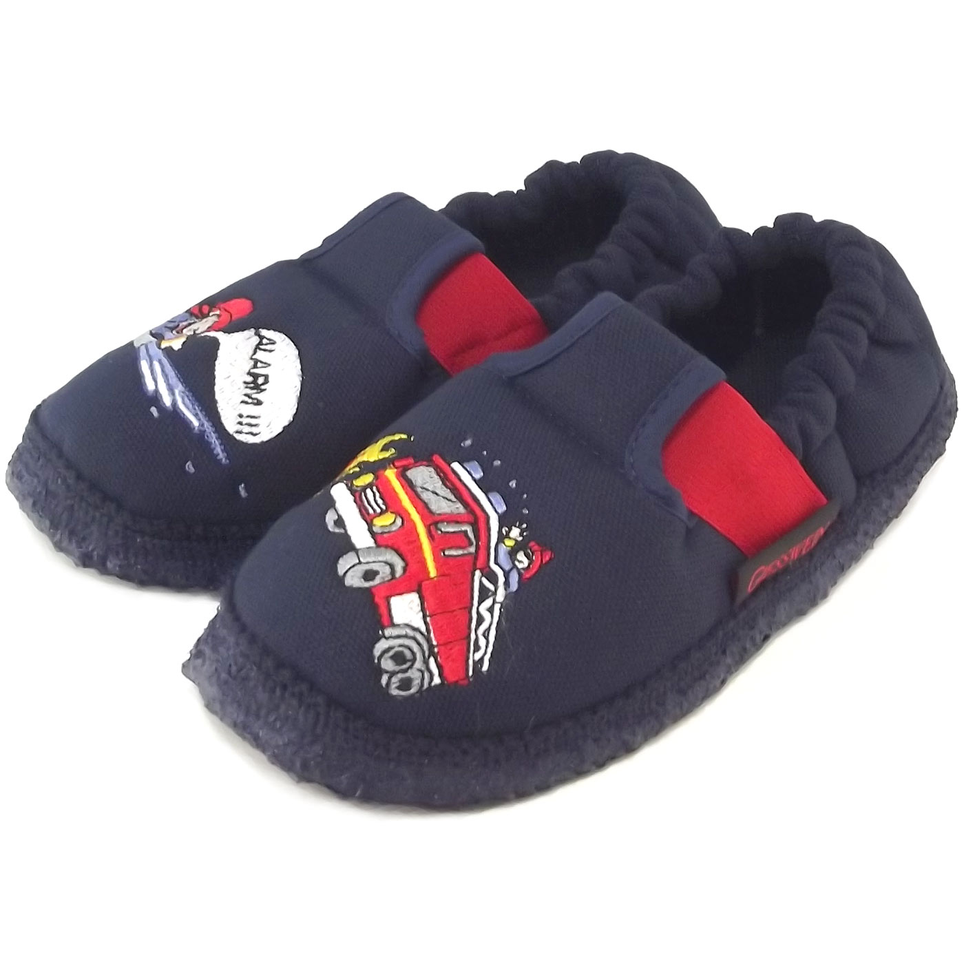 giesswein aurich jungen hausschuhe dunkelblau slipper klettschuhe kinder hausschuhe haus. Black Bedroom Furniture Sets. Home Design Ideas