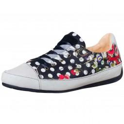 Desigual Topos Damen Sneaker schwarz/mehrfarbig