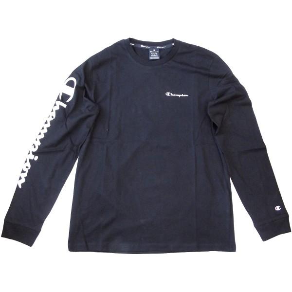 Champion Long Sleeve T-Shirt Mn Herren Langarm-Shirt schwarz (nbk)