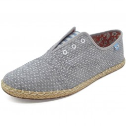 Toms Palmera Chambray Wm Damen Slippers grau (dot)