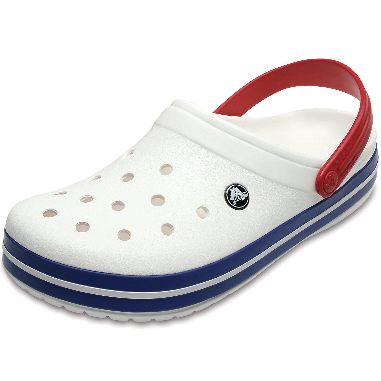 reputable site 09b11 a9b1e Crocs Crocband Unisex Clogs white/blue jean