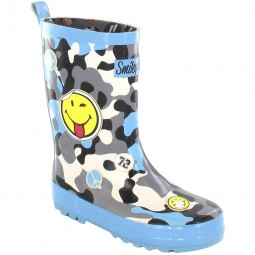 Be Only Smiley Army Jungen Gummistiefel blau/camo (bleu)