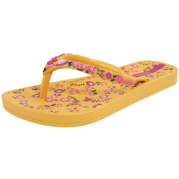 Ipanema Anat Lovely Kids Mädchen Zehenstegsandale gelb (yellow/pink)