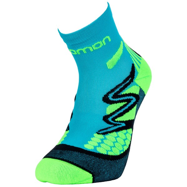 Salomon XT Hawk Kids Kinder Laufsocken Turquoise/Neon Green