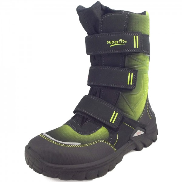 new product bee76 dbc5e Superfit Gore-Tex Pollux Boy Winter Boots black/green (schwarz/multi)