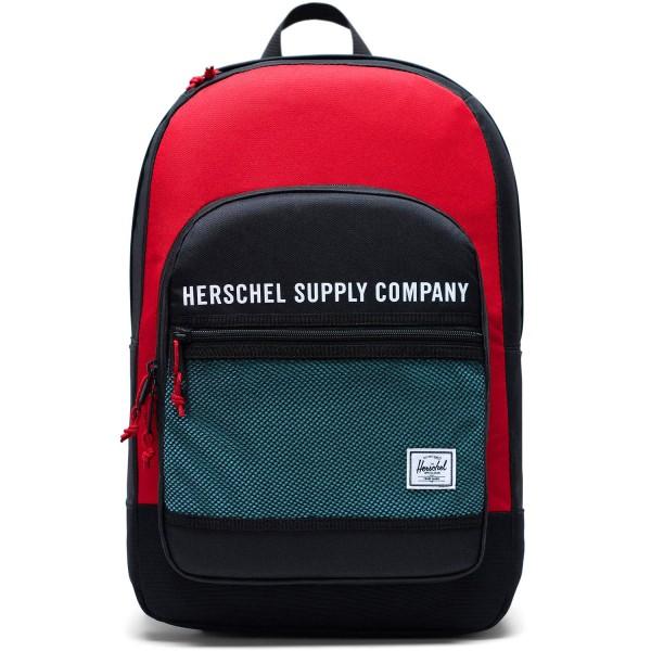Herschel Kaine Unisex Rucksack black/red/bachelor button