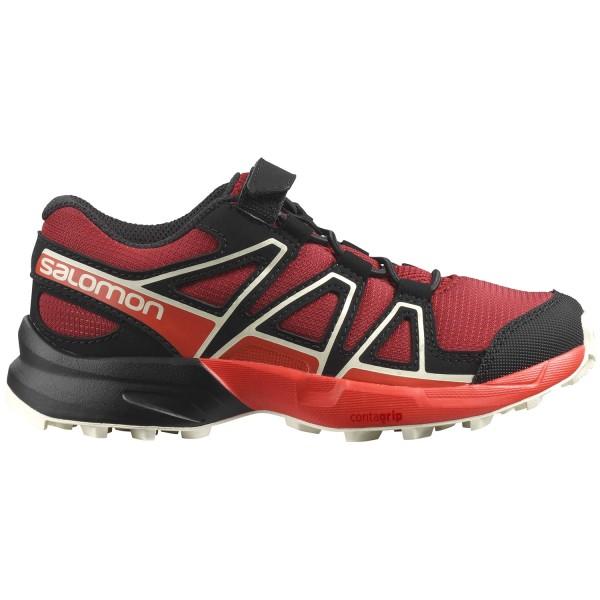 Salomon Speedcross Bungee K Kinder Trail-Laufschuhe Red Dahlia/Cherry Tomato/Vanilla Ice