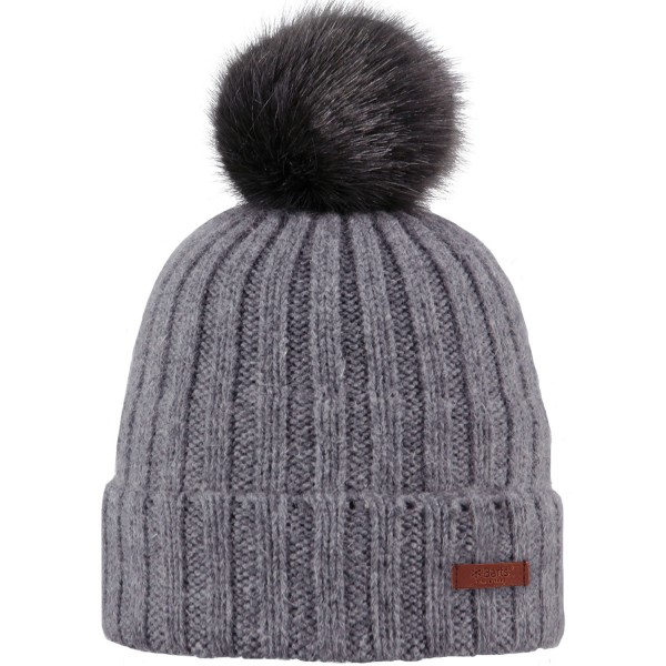 Barts Linda Beanie Damen Wintermütze grau (dark heather)