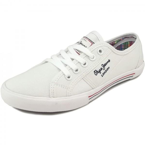 Pepe Jeans Aberlady Damen Sneaker wei