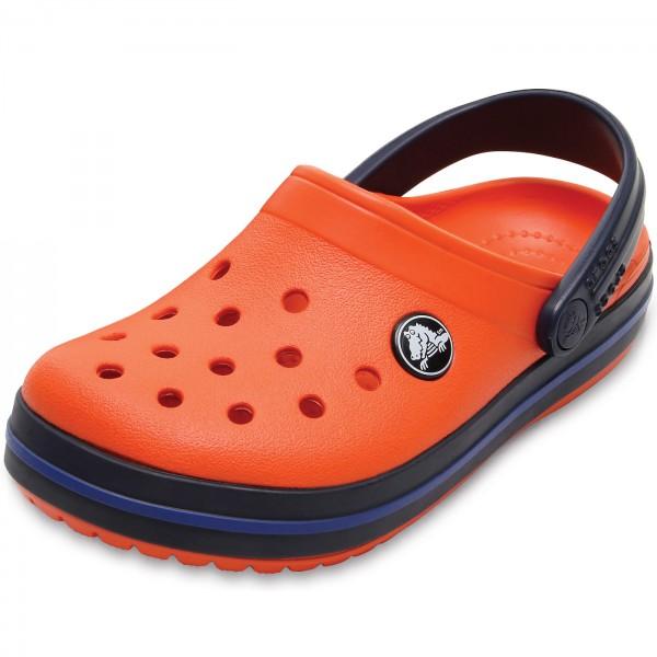 crocs Crocband Clog Kids, Unisex-Kinder Clogs, Orange (Tangerine/Navy), 29/30 EU