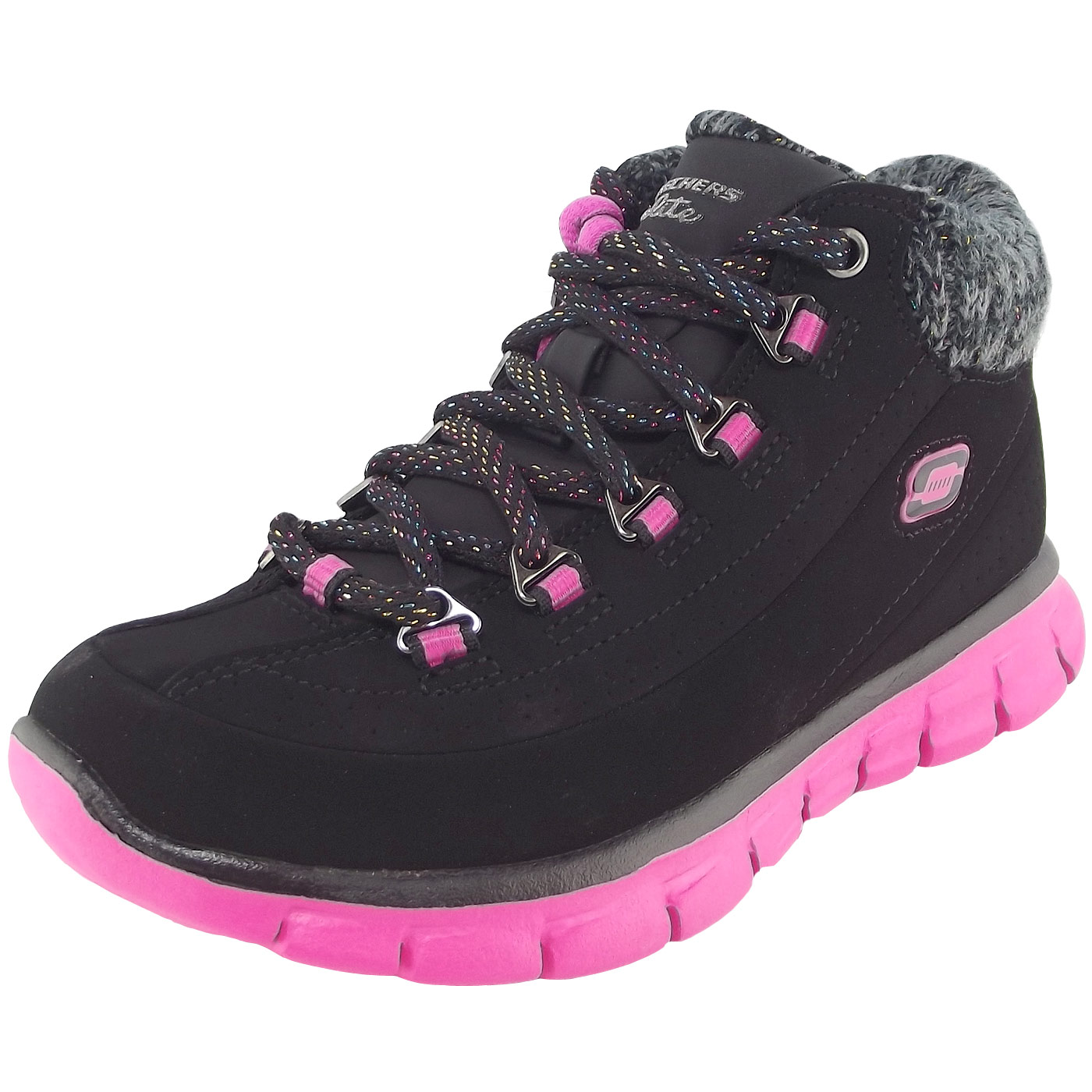 huge discount a8534 c50dc Skechers Synergy Strong Will Girl Training Sneaker black/hot pink