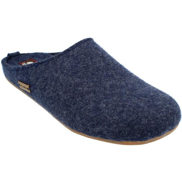 Haflinger Everest Fundus Unisex Hauspantoffeln Dunkelblau (Jeans)