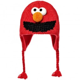 Knitwits by deLux Sesam Street Elmo Unisex Strickmütze rot (red)