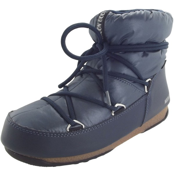 detailed look b9d81 685fb Moon Boot Low Nylon WP Women Winter Ankle Boots denim blue
