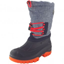 CMP Kids Ahto Wp Kinder Winterstiefel blau meliert/orange (denim mel)