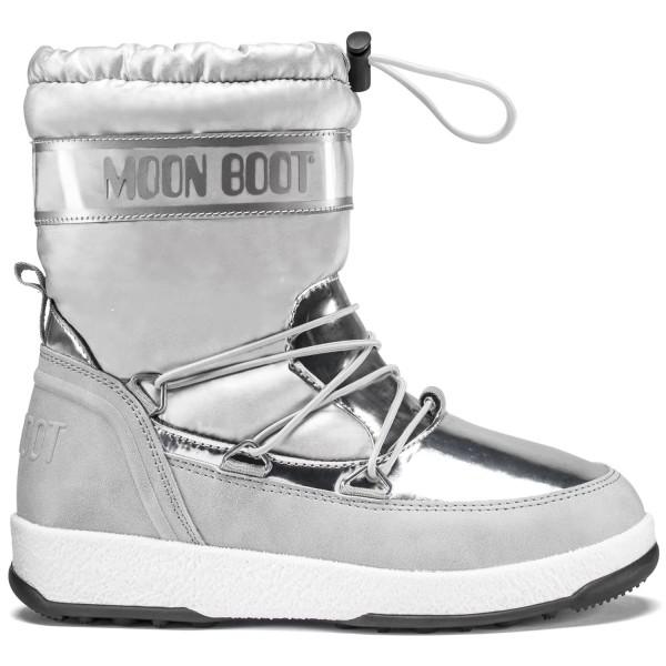 Moon Boot Jr Girl Soft WP Mädchen Winterstiefel Silber/Grau (Silver)