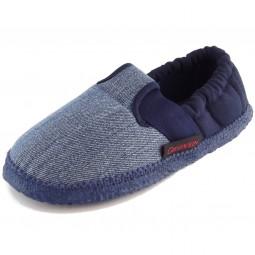 Giesswein Aichach Baumwoll-Slipper jeans/dunkelblau