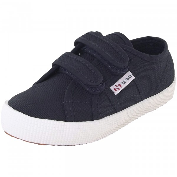 Superga 2750 CotBumpStrapJ Kinder Sneaker dunkelblau (navy/fwhite)