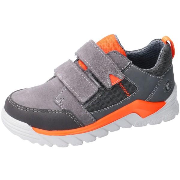 Ricosta SympaTex Marv Jungen Klett-Sneaker graphit/orange
