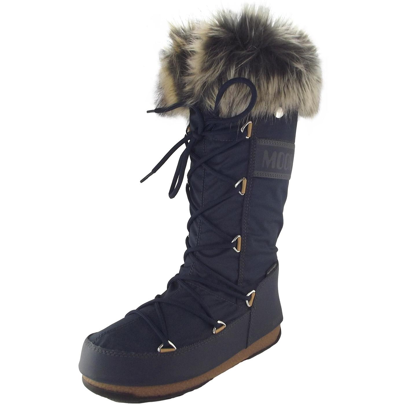 ever popular online for sale wholesale Moon Boot Monaco WP Women Winter Boots denim blue