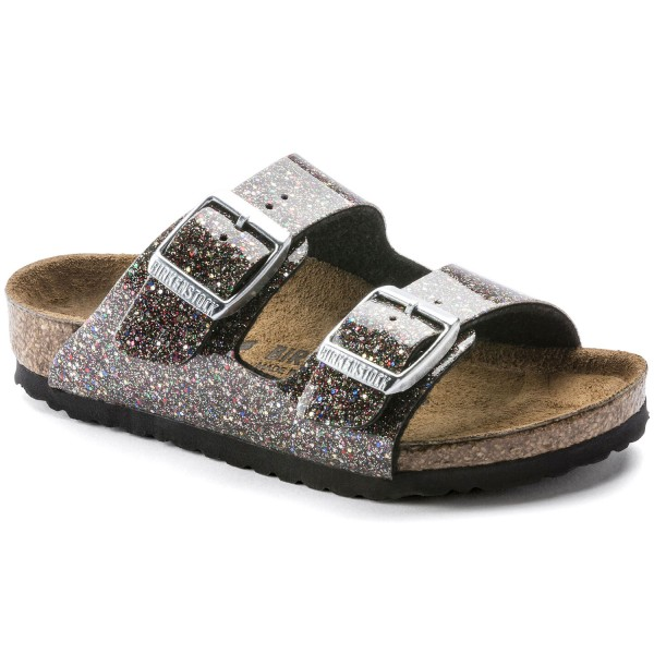 Birkenstock Arizona Kids Mädchen Pantolette Cosmic Sparkle Black Multi