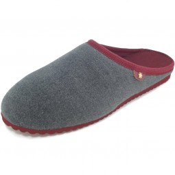 flip*flop Homestay Damen Pantoffel grau/weinrot (steel)