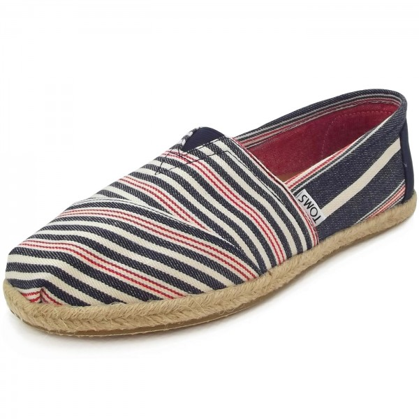 Toms Classic Stripe Rope Wm Damen Espadrilles dunkelblau/rot (navy/red woven), Gr. 36 EU / 5.5 US / 3.5 UK