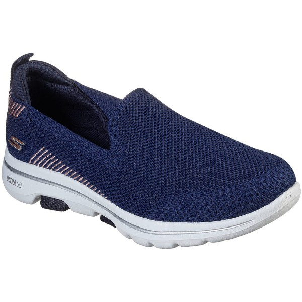 Skechers GOwalk 5 Prized Damen Walking-Slipper dunkelblau (navy)