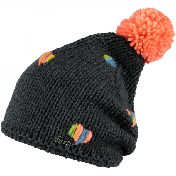 Barts Zelda Beanie Kinder Wintermütze charcoal/orange (charcoal)