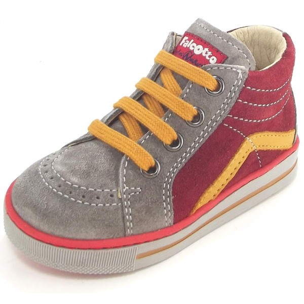 Falcotto by Naturino Krazy Toddler Lace-Up Shoes grey/red (piombo ...