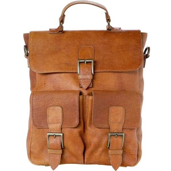 Ellamar Back Bag Damen Leder-Rucksack camel