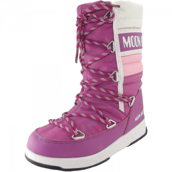 Moon Boot WE Quilted Jr WP Mädchen Winterstiefel orchidee/rosa/weiss