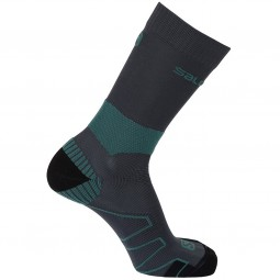 Salomon Quest Unisex Wander-Socken night forest/nori green