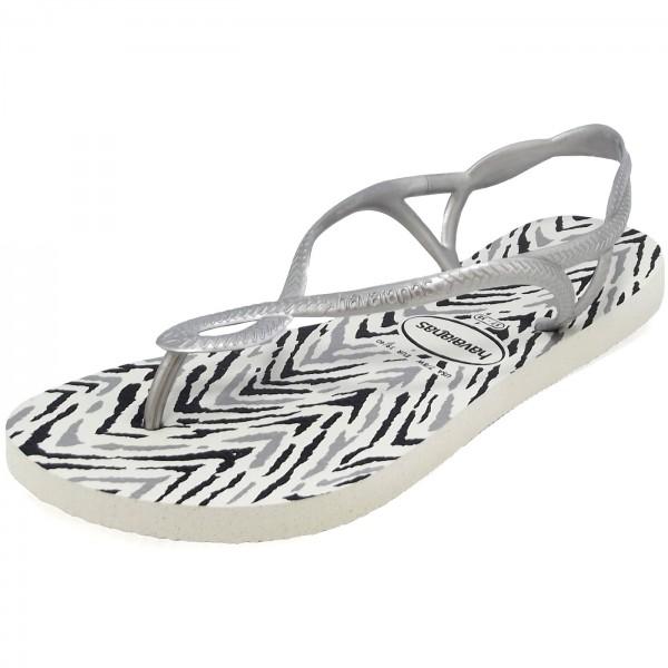 8ce35ddac68635 Havaianas Luna Animals Women Flip-flops white silver