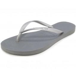 Havaianas Slim Damen Zehenstegsandale stahlgrau (steel grey)