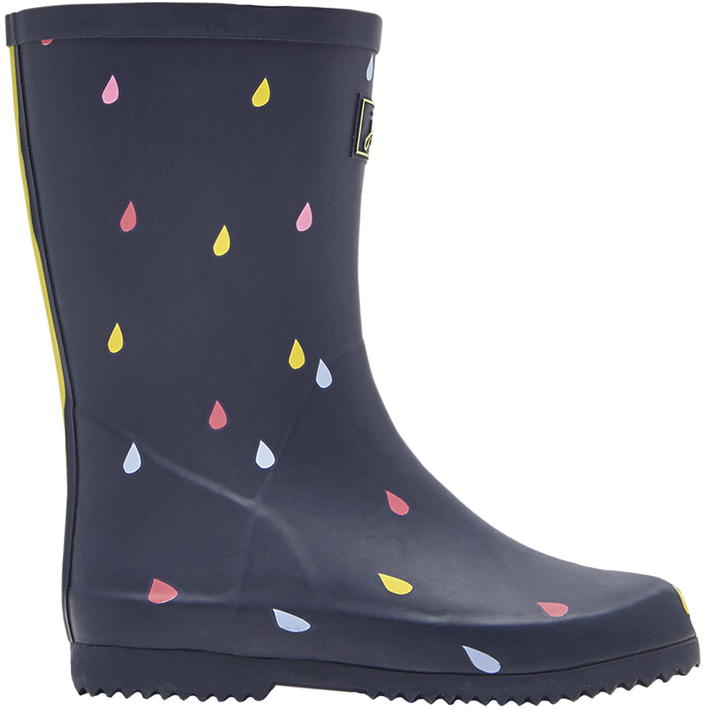 heiß-verkauf freiheit Auf Abstand weltweit verkauft Tom Joule Jnr Roll Up Welly Girl Wellies navy raindrops