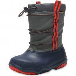 Crocs Swiftwater Boot Kids Kinder Waterproof-Stiefel dunkelblau/grau (navy/flame)