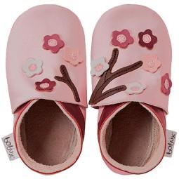 Bobux Blossom Flowers Baby Krabbelschuhe rosa