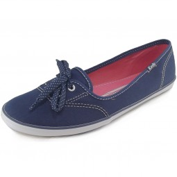 Keds Teacup Canvas Ballerina navy