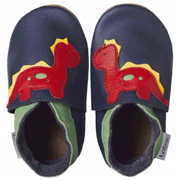 Bobux Dinosaur Baby Crawling Shoes navy blue