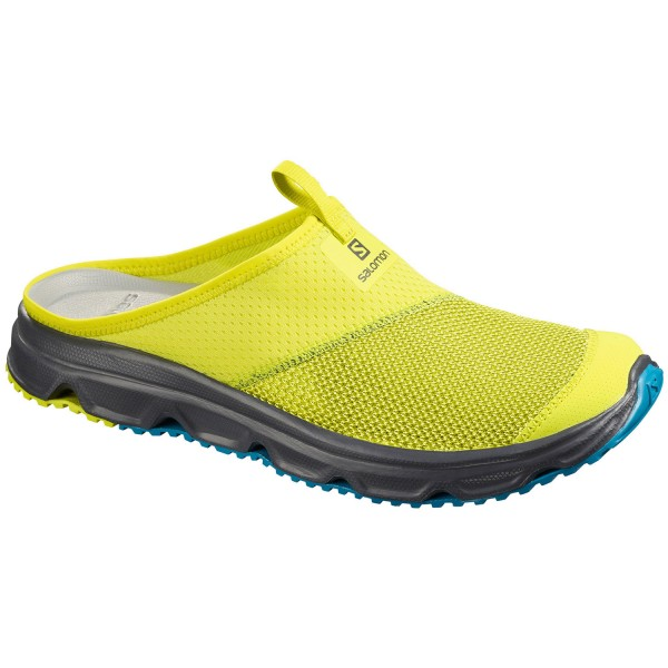 Salomon RX Slide 4.0 Herren Recovery-Schuhe evening primrose/ebony/fjord blue